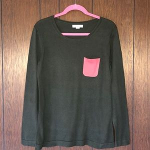 G.H. Bass Green/Coral Sweater